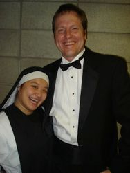Suor Angelica with the one & only: our wondrous director James Marvel