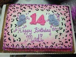 Pink Cheetah Print Cake
