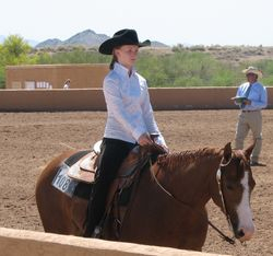 Brielle Wendell riding Zip's Little Miracle