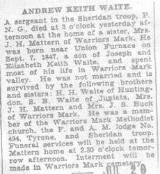 Waite, Andrew Keith 1932
