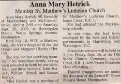 Hetrick, Anna Mary 2003