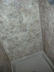 After: River Rock Slate Wall Surround/Sand Liner