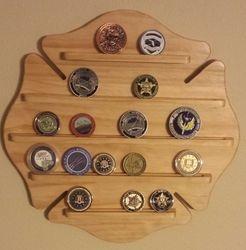 Firefighter Maltese Cross Coin Display