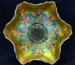 Holly six ruffled bowl - aqua opal butterscotch