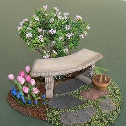 Cozy garden bench