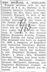 Weiland, Mary J. McConnell 1942