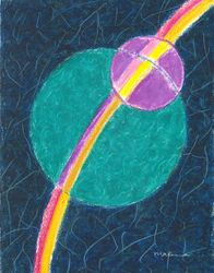 Maintaining Wholeness Within and Without Mandala, Oil Pastel, 11x14, Original Sold