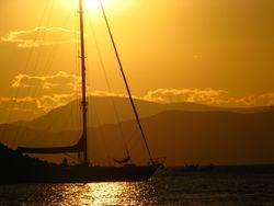 Hydra island, Saronic sea