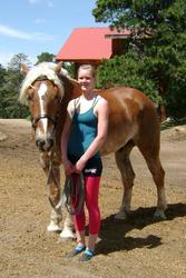 May: Training in Golden, Colorado, USA - Angelique walking Flash