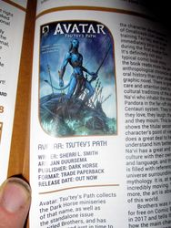 Title Information in My Review of Avatar: Tsu'tey?s Path in Starburst Magazine #469: Birds of Prey Collectors? Edition