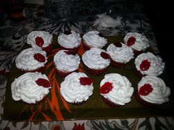 Strawberry filled -Vanilla Cupcakes with Whipped Mascarpone Frosting