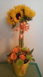 Fun Sunflower Topiary