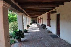 Santa Barbara Mission Courtyard 1