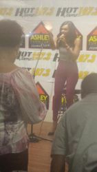Demetria McKinney at Hot 107.3 Jamz