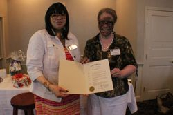 City proclamation from Councilor Ayana Pressley