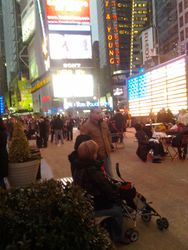 Look at all the lights in Time Square!