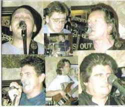 The Band with Danny Rivers, Ed the Duck Brian Connell and Will at The Peel