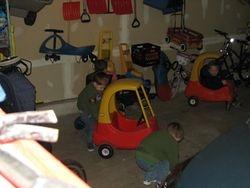 garage fun on a rainy day