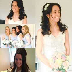 Soft and glamorous curls for our beautiful bride Jo