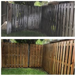 Wood Fence Pressure Cleaning