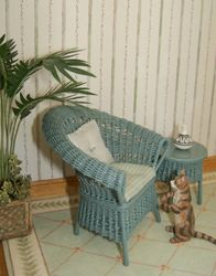 New sea blue-green wicker