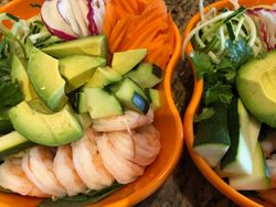 Lunch Bowls with Mexican Shrimp