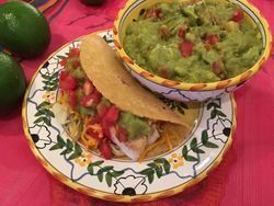 Fish Tacos with Guac & Salsa