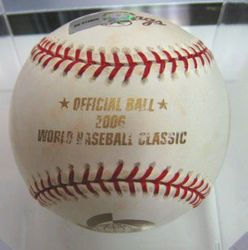 Albert Pujols 2006 Signed Game Used Ball From World Baseball Classic