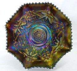 """Wishbone 10"""" amethyst 6 ruffled bowl"""