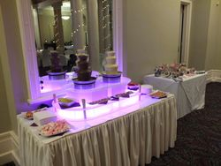 Twin chocolate fountain hire Queens hotel Leeds.