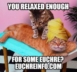 You relaxed enough for some Euchre?