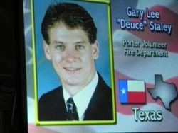 Screen shot honoring Gary