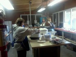 Ladies in the kitchen...feeding the exhibitors