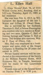 Hall, L. Ellen Haas 1989