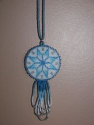 Bead Embroidery 8 Point Star Necklace