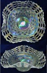 Open Edge basket, three row, square shape, white