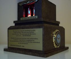 Commemorative launch trophy/Year counter