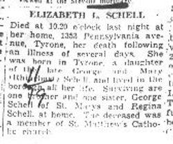 Schell, Elizabeth 1937
