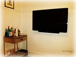 "Philips 46"" flat screen TV and speaker bar installation"