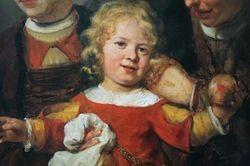 Carel Fabritius, The Happy Child, detail, Toledo