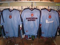 NEVER  WORN1997 made shirt with DAGENHAM MOTORS as sponsor,
