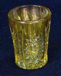 Hobstar shot glass - marigold