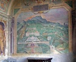 Villa Lante and Its Gardens, fresco in the garden casino, 1570s