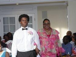 Wedding groomsman and bridesmaid