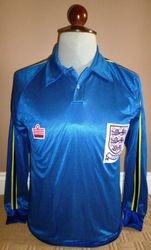 England 1980 under 21 match worn shirt for sale