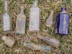 8 bottles from the peach st dump.
