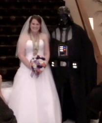 Darth Vader w/bride