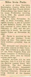 Parks, Miles Irvin 1958