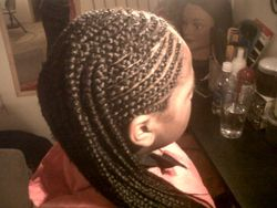 Extensions Cornrows