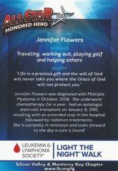 Back of Honore Hero Card